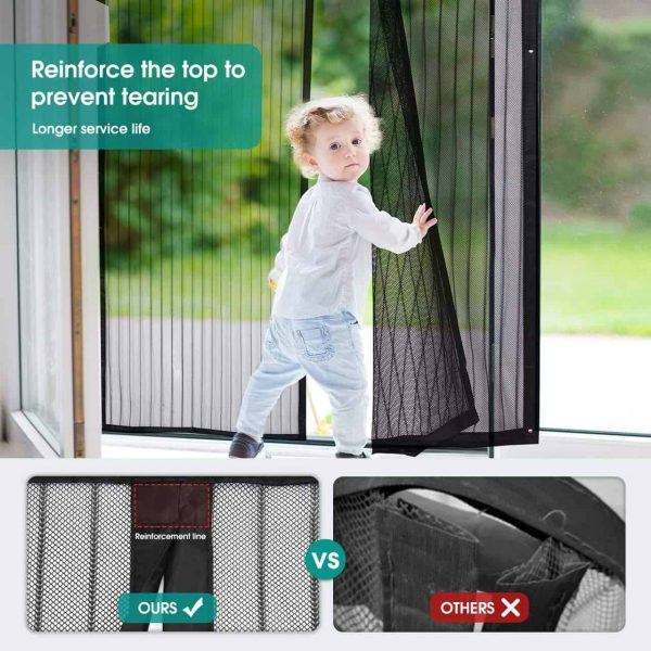 Heavy Duty Mesh Curtain Screen Doors with Magnets