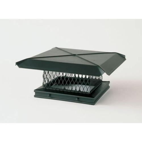 "Gelco 13"" x 17"" Galvanized Single-Flue Chimney Cap 3/4"" Mesh"