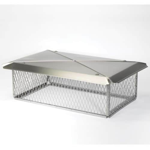 """Gelco 13"""" x 24"""" Stainless Steel Multi-Flue Chimney Protector 3/4"""" Mesh"""