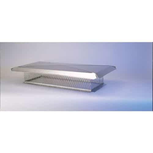 "Gelco 13"" x 26"" Stainless Steel Multi-Flue Cap 3/4"" Mesh"