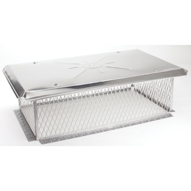 Gelco 3/4 inch mesh Chimney Cap 10H x 11W x22L