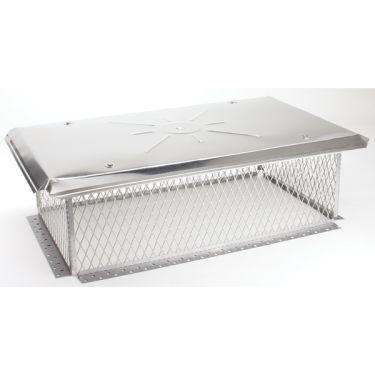 Gelco 3/4 inch mesh Chimney Cap 8H x 09W x30L