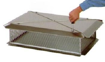 Gelco Stainless 14 Inch x 14 Screen Chimney Protector Cap Multi-Flue
