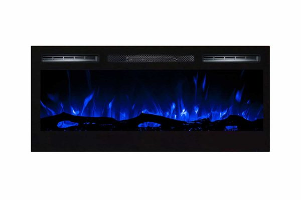 Gibson Living LW2035WL-GL 36 in. Madison Logs Recessed Wall Mounted Electric Fireplace 1