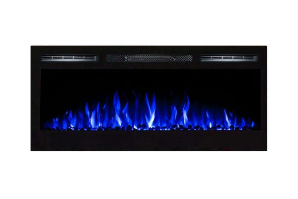 Gibson Living LW2035WS-GL 36 in. GL2036WS Madison Pebbles Recessed Wall Mounted Electric Fireplace 1