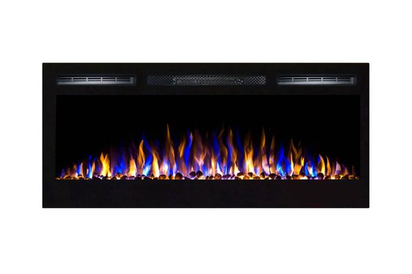 Gibson Living LW2035WS-GL 36 in. GL2036WS Madison Pebbles Recessed Wall Mounted Electric Fireplace 2