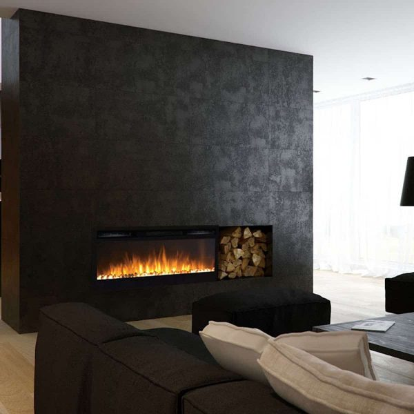 Gibson Living LW2035WS-GL 36 in. GL2036WS Madison Pebbles Recessed Wall Mounted Electric Fireplace 4