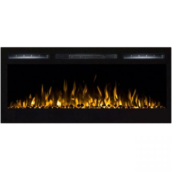 Gibson Living LW2035WS-GL 36 in. GL2036WS Madison Pebbles Recessed Wall Mounted Electric Fireplace