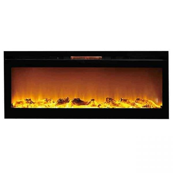 Gibson Living LW2060WL-GL 60 in. GL2060WL Reno Log Built in Recessed Wall Mounted Electric Fireplace