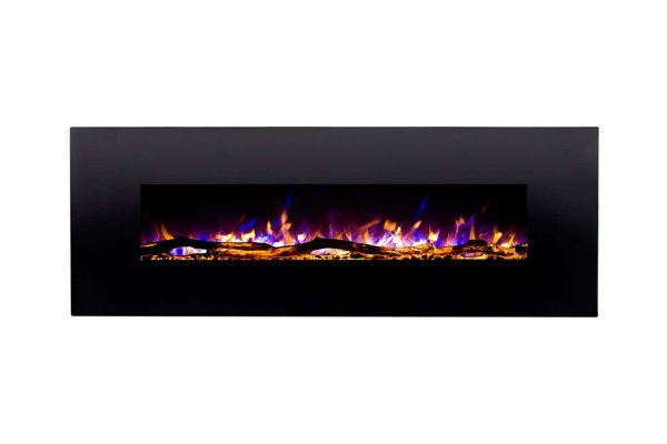 Gibson Living LW5072LE-GL 72 in. GL5072LE Oakland Log Linear Wall Mounted Electric Fireplace 1