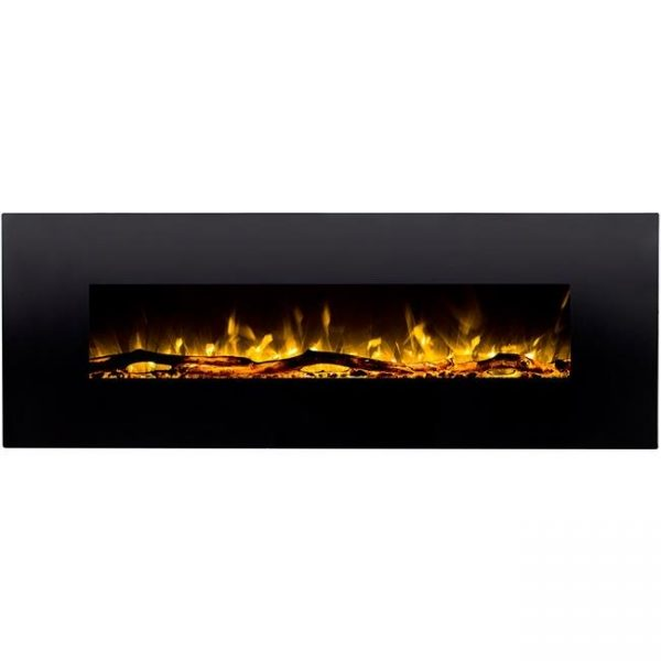 Gibson Living LW5072LE-GL 72 in. GL5072LE Oakland Log Linear Wall Mounted Electric Fireplace