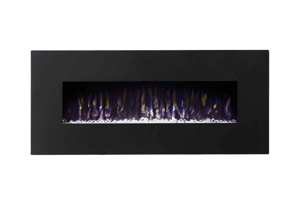 Gibson Living LW5075BK-GL 50 in. GL5050CE Lawrence Crystal Electric Wall Mounted Fireplace, Black 1