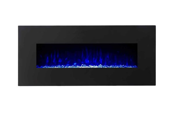 Gibson Living LW5075BK-GL 50 in. GL5050CE Lawrence Crystal Electric Wall Mounted Fireplace, Black 2