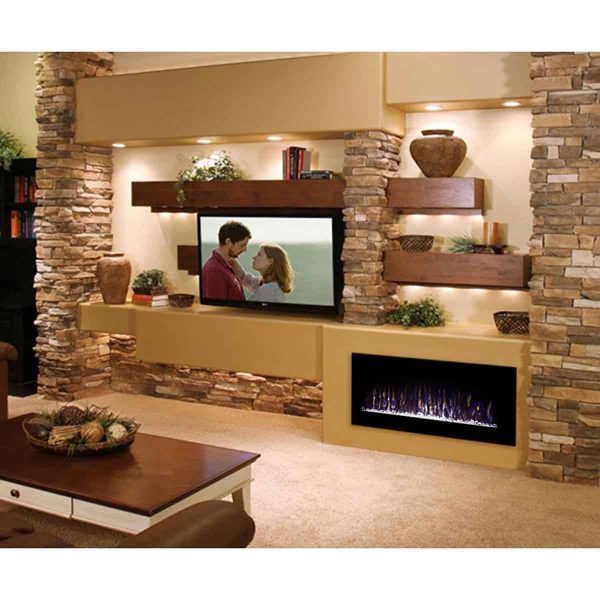 Gibson Living LW5075BK-GL 50 in. GL5050CE Lawrence Crystal Electric Wall Mounted Fireplace, Black 4
