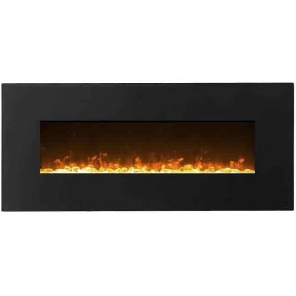 Gibson Living LW5075BK-GL 50 in. GL5050CE Lawrence Crystal Electric Wall Mounted Fireplace