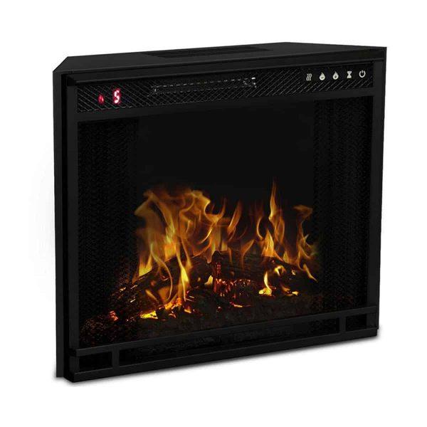 Gibson Living LW8033FLT-GL 33 in. Flat Ventless Heater Electric Fireplace Insert, Black Frame 3