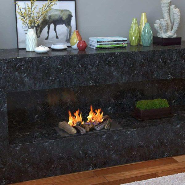 Gibson Living RFA1009-GL Petite Ceramic Wood Gas Fireplace Log Set - 9 Piece 1