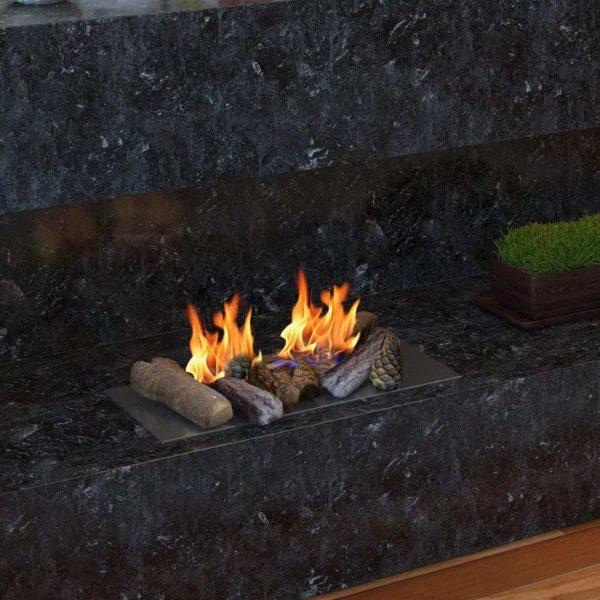 Gibson Living RFA1009-GL Petite Ceramic Wood Gas Fireplace Log Set - 9 Piece 2