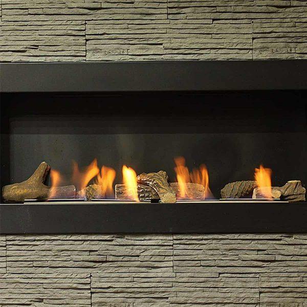 Gibson Living RFA1009-GL Petite Ceramic Wood Gas Fireplace Log Set - 9 Piece 4