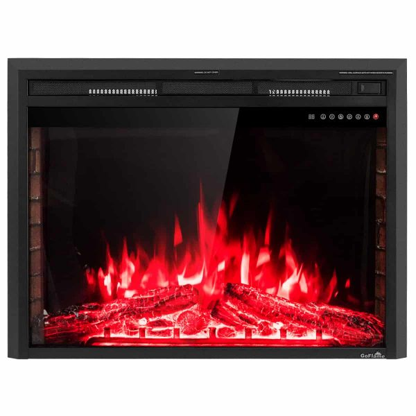 GoFlame 36'' 750W-1500W Fireplace Heater Electric Embedded Insert Timer Flame Remote 8