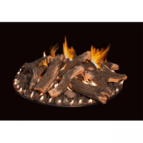 Grand Canyon Gas Logs RFS-36 Round Flat Stack Complete Logs Fire Pit