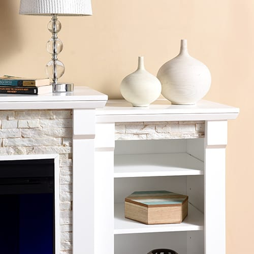 Grand Heights Color Changing Bookcase Fireplace 10