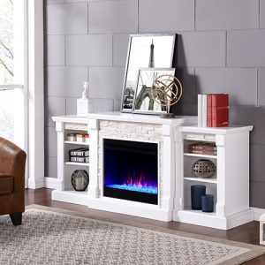 Grand Heights Color Changing Bookcase Fireplace