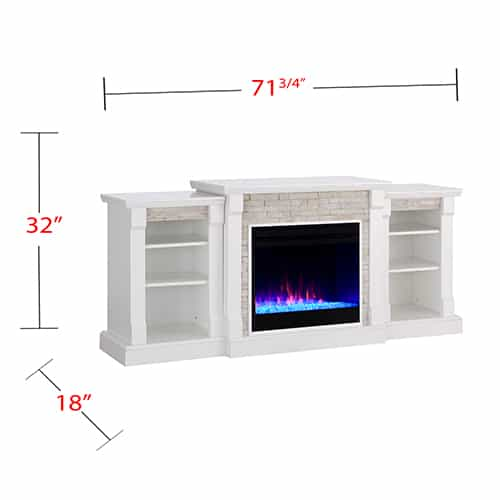 Grand Heights Color Changing Bookcase Fireplace 6