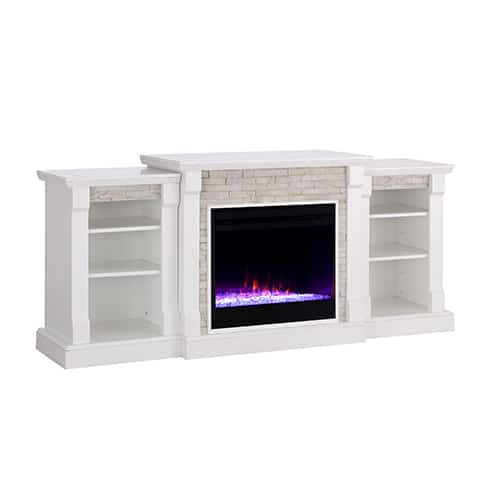 Grand Heights Color Changing Bookcase Fireplace 7