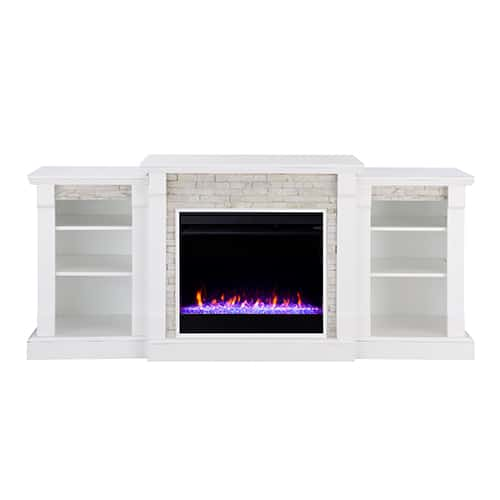 Grand Heights Color Changing Bookcase Fireplace 9