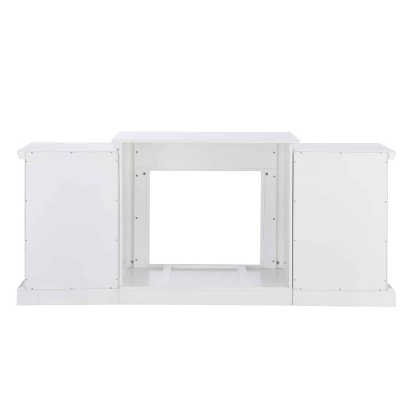 """Grand Heights Faux Stone Electric Fireplace, For TV's up to 36"""", White 20"""