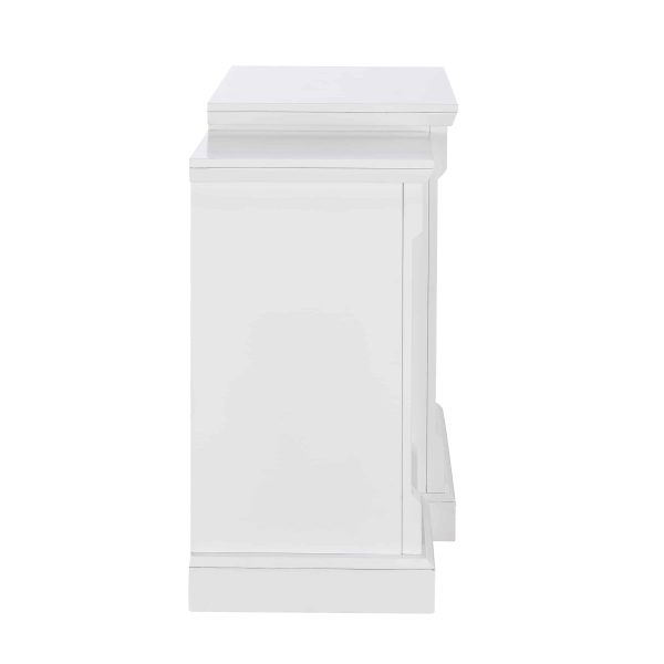"""Grand Heights Faux Stone Electric Fireplace, For TV's up to 36"""", White 6"""