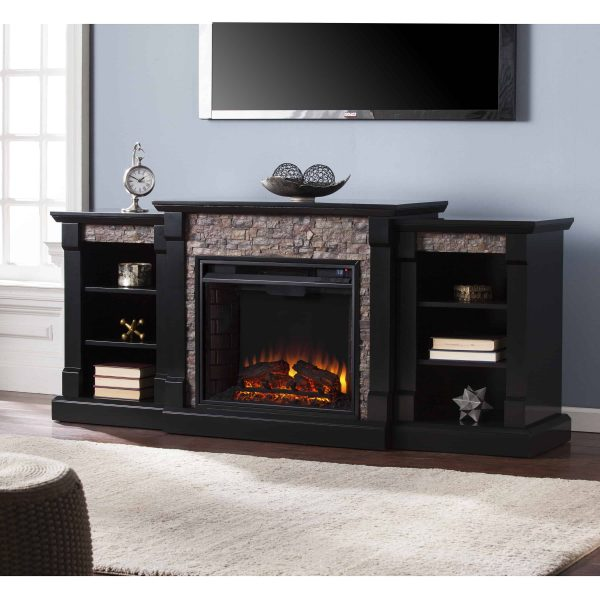 Grand Heights Faux Stone Low Profile Electric Fireplace 3