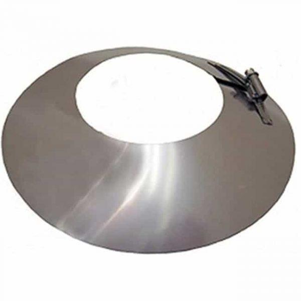 Gray Metal 3-335 3 in. Galvanized Storm Collar