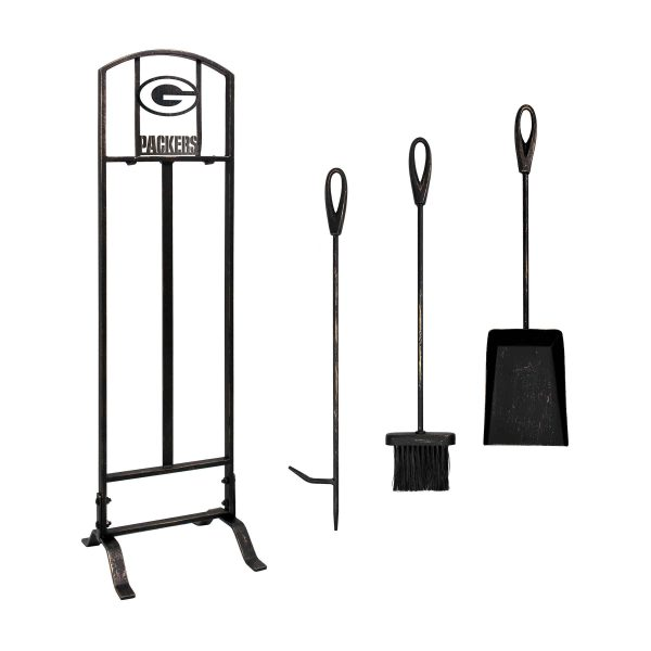 Green Bay Packers Imperial Fireplace Tool Set - Brown 1