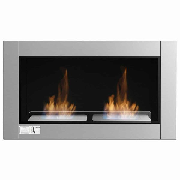 Gymax 38 Inch Wall Mounted Bio-Ethanol Fireplace Ventless Dual Burner Fireplace 5