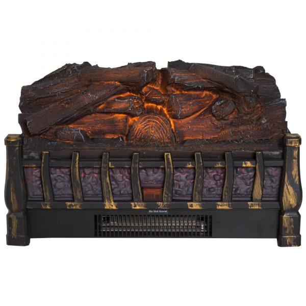 HOMCOM 5200 BTU 750W/1500W Electric Log Set Heater with Realistic Ember Bed - Black 5