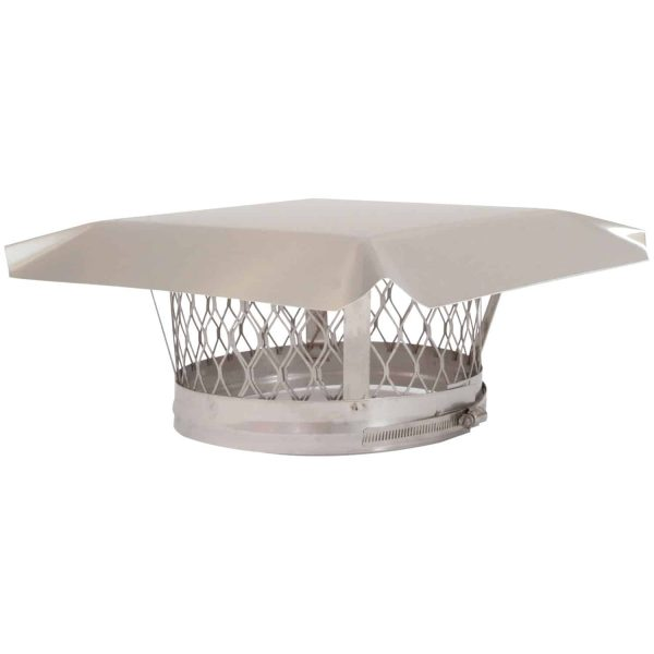 """HY-C LC4 Round Clamp-on Single-Flue Liner Stainless Steel Chimney Cap (4"""")"""