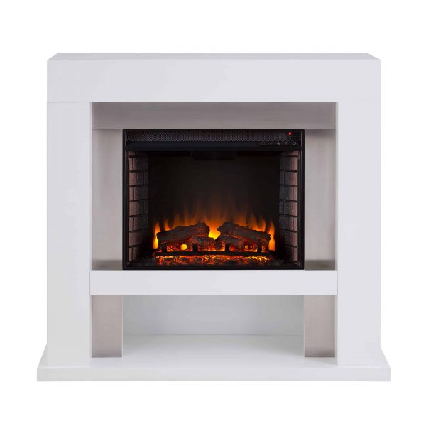 Harkwell Stainless Steel Electric Fireplace by River Street Designs 11