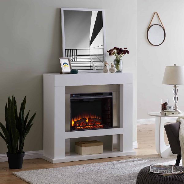 Harkwell Stainless Steel Electric Fireplace by River Street Designs 2