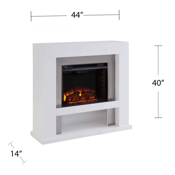 Harkwell Stainless Steel Electric Fireplace by River Street Designs 5
