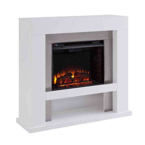 Harkwell Stainless Steel Electric Fireplace by River Street Designs 9