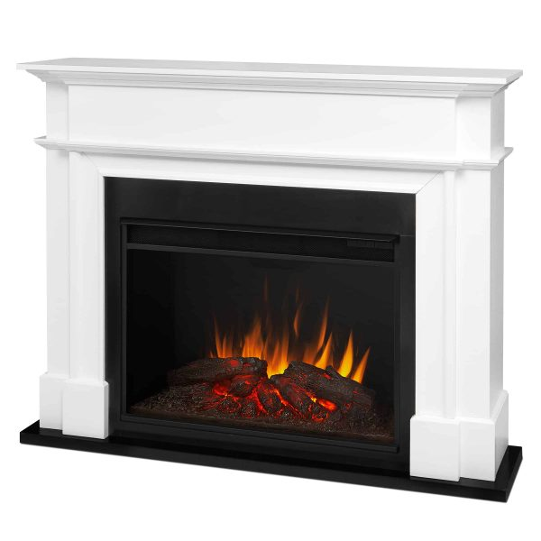 Harlan Grand Electric Fireplace White by Real Flame 1