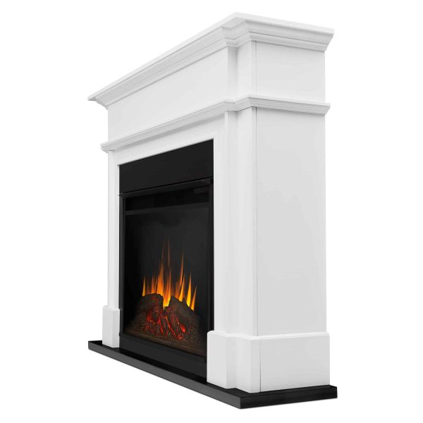 Harlan Grand Electric Fireplace White by Real Flame 2