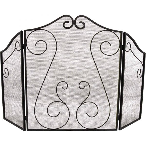 Hearth Accessories Fireplace Scrollwork Screen 1