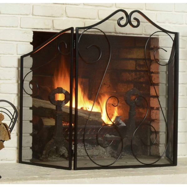 Hearth Accessories Fireplace Scrollwork Screen 2