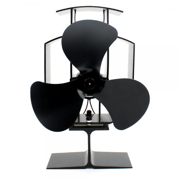 Heat Powered Stove Fan 3 Blade , Silent Operation , Fireplace Wood + Log Burner , Eco Friendly , Effective Heat Circulation 4