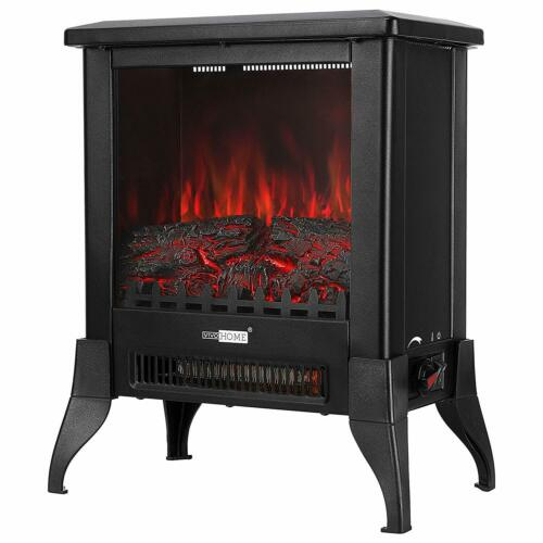 Height Freestanding Electric Fireplace Stove Heater with Realistic 3D Dancing Flame Effect 17 Inch 2