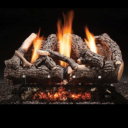 "Heritage Char Vent Free 18"" Gas Logs with Manual Valve - NG"