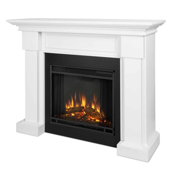 Hillcrest Electric Fireplace in White by Real Flame 1